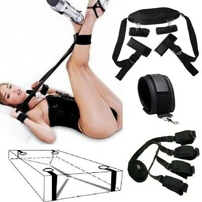 Adults Fantasy Cosplay Fetish Bed Restraint Bondage Collar Hands Ankle Cuffs
