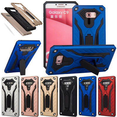 Rugged Case Kickstand Shockproof Rubber Cover For Samsung Galaxy J7 Prime C9 Pro