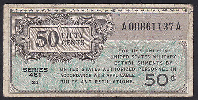 United States Military Payment Certificate 50 Cents, 1946 P - M 4, Series 461
