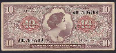 United States Military Payment Certificate 10 Dollar 1965 P - M 63, Series 641