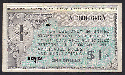 United States Military Payment Certificate 1 Dollar 1946 P - M 5, Series 461