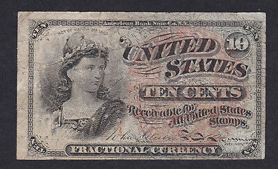 United States Fractional Currency 10 Cents 1863