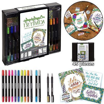 CALLIGRAPHY SET STATER KIT Hand Lettering Tutorials Practice Art Gift Tags Cards
