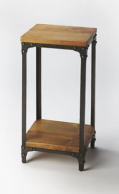 Butler Grimsley Iron and Wood Pedestal Stand 2874330