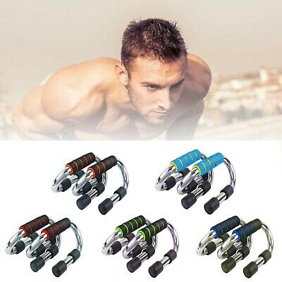 XN8 Push Up Bars Stand Pairs Foam Handles For Chest Press Pull Gym Exercise UK