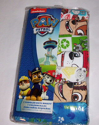 Paw Patrol Marshall Chase Rocky Rubble 7 Cotton Briefs Toddler Boys Size 4T