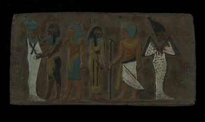 ANCIENT EGYPTIAN ANTIQUES OSIRIS Stela Relief Wall Sculpture Stone EGYPT 2686 BC