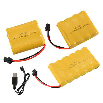 3.6V/4.8V/7.2V 800mAh Ni-Cd Rechargeable AA Battery SM Plug For RC Car Boat Toy