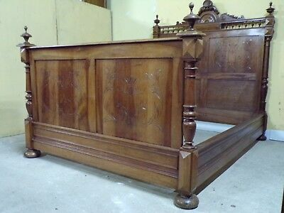 Carved antique double Bed C1890