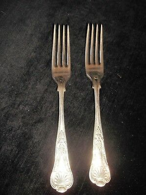 Pair Of Elegant Heavy Quality  Silver Plated Forks Very Ornate Sheffield A1