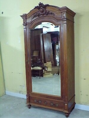 French LOUIS XVI  hand carved  single door  armoire C1890