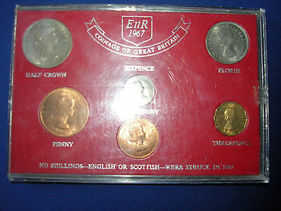 1967 Coinage Of Great Britain Set - Cased Coin Set