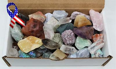1 Pckt Of Bulk Crafters Collection Box 1 Lb Mix Natural Gems Crystals Mineral Ro