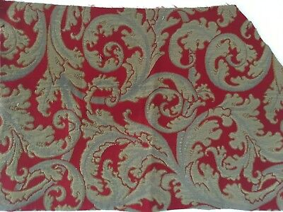 Vintage Early 20th Century Cotton & Wool Tapestry Fabric (9310)