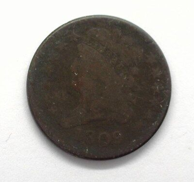 1809 Classic Head Half Cent -Rotated Die-  Good