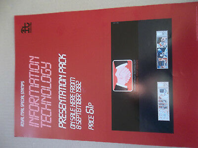 Royal Mail A3 Post Office Poster 1982 Information Technology Presentation Pack