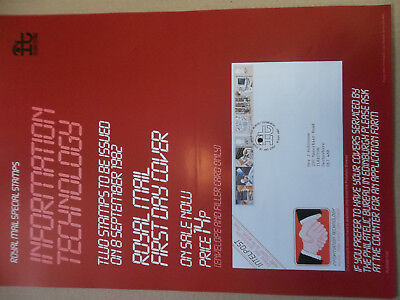 Royal Mail A3 Post Office Poster 1982 Information Technology First Day Cover