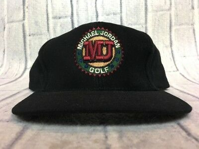 ba3c9753 90s VTG MICHAEL JORDAN GOLF Relaxed Strapback Dad Hat Logo OG Chicago Bulls  Air