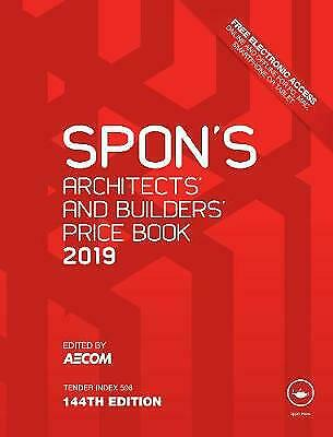 Spon's Architects' and Builders' Price Book 2019 - 9781138612013