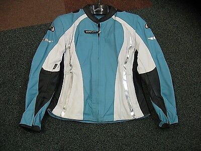 Agv Sport Ladies Size 12 Baby Blue Leather Jacket Thermal Linned Ce Body Armour