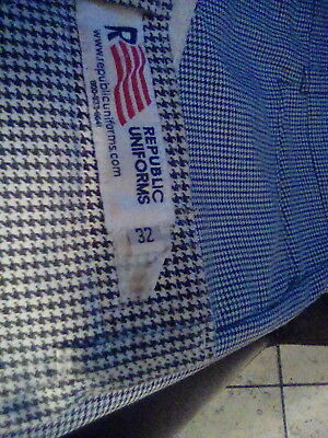 2 pairs Republic Uniforms Professional Chef Pants With Belt Loops & Zipper Fly