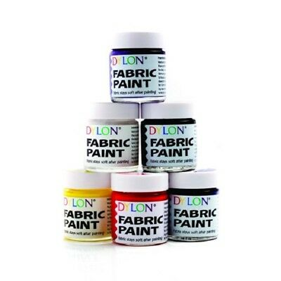 Dylon Fabric Paints - Various colours available. Pack of 6 Jars ...Only £9.99!!!