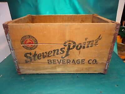 Antique Advertising Stevens Point Beverage Co. Wooden Beer Crate Point Beer RARE
