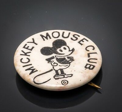 1930s Mickey Mouse Club Pin