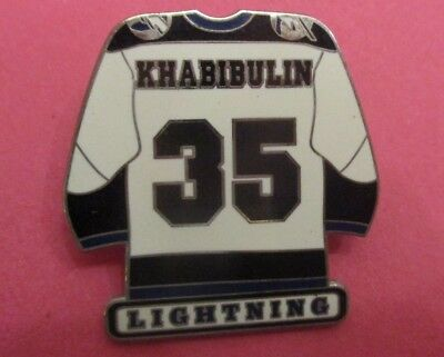 Nikolai Khabibulin Jersey - Goalie for Tampa Bay Lightning #35 NHL Lapel Pin