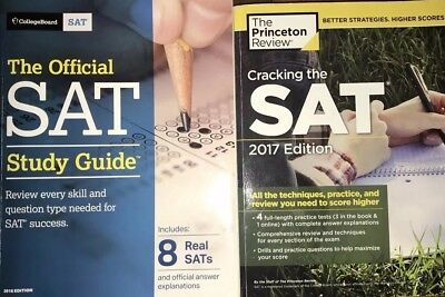 The Official SAT Study Guide, 2018 & 2017 Edition by The College Board (2 BOOKS)