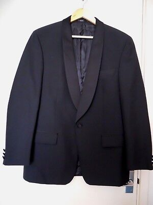 "Mens Black Tuxedo jacket evening jacket wedding to fit chest 40"" worn once"