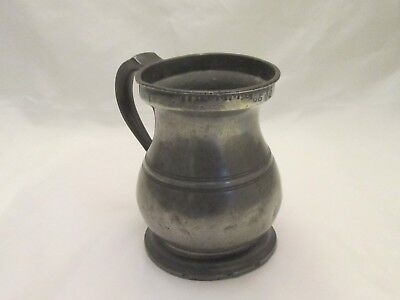 A Large Pewter Quart Tankard - James Yates - c1900 - Baluster Tankard