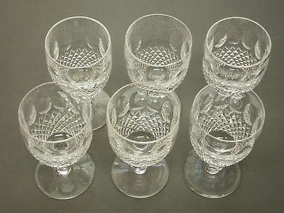 "$450 Near Mint Estate 6Pc Set Waterford Colleen Short Stem 4.75"" Claret Wines"