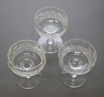 "$150 Near Mint Estate 3Pc Set Waterford Colleen Short Stem 4.50"" Tall Champagnes"