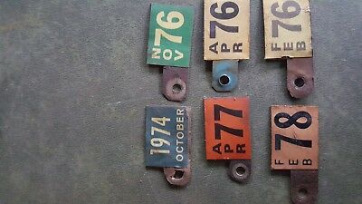 Lot Of 6 Delaware?  License Plate  Metal Tags