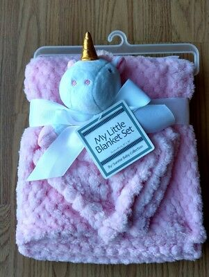 MY LITTLE BLANKET Baby Security Set Infant Unicorn Pink Girls Soft Lovey NEW NIP