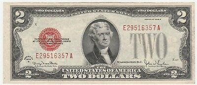 "1928-G $2 ""Red Seal"" Small United States Note ""Crisp New"" *Free S/HAfter 1stItem"