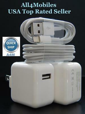 2 Sets of  Wall Charger Adapter and USB Cable for iPad Air Mini Pro