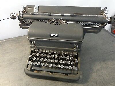 Antique Royal 4 Row Glass Key Magic Margin Long Arm Typewriter