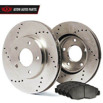 Front Rotors w/Metallic Pad Drilled Brakes 1994 - 1999 Ram 2500 2500HD 3500