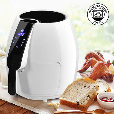 Goplus 1500W Electric Air Fryer 4.8 Quart Touch LCD Screen Timer Temperature Con