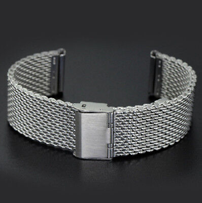 20mm 22mm Mesh Stainless Steel Bracelet Wrist Strap Milanese Watch Band Link New