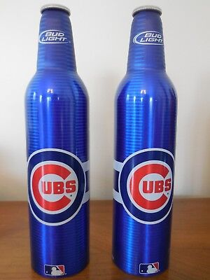 Bud Light & Budweiser CUBS Aluminum Beer Bottle 2008