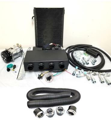 Universal Underdash AC Air Conditioning Evaporator Heat Cool Kit w/ Hoses Vents