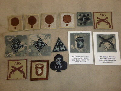Super Group Of 14  Us Army 101St Airborne Div Patches  From Collection ( N )