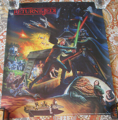 Vintage 1983 Star Wars Return of the Jedi Rolled Poster Coca-Cola Hi-C promotion