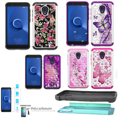 PHONE CASE FOR Tracfone Alcatel TCL LX Straight Talk Hybrid Cover