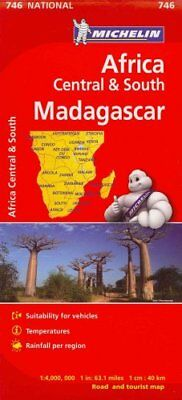 Michelin Map Africa Central South and Madagascar 746 by Michelin 9782067172500