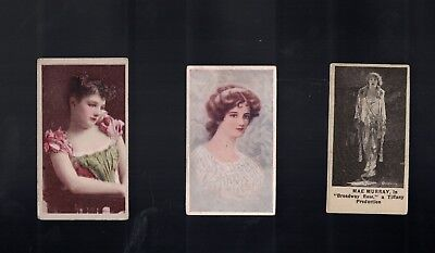 Lot Of 3 Circa Late 1800's To Early 1900's Woman Beauties Cigarette Cards