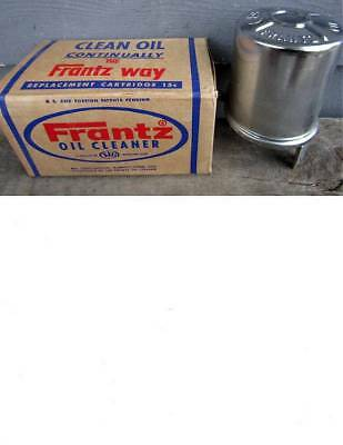 NOS FRANTZ OIL CLEANER TOLIET PAPER FILTER KIT CHROME RAT ROD -- sealed in box